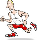 Runner sportsman cartoon illustration illustrations of or athlete training Stock Photos