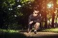 Runner on a start