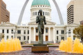 Runner statue in St. Louis Royalty Free Stock Photo