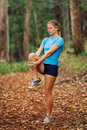 Runner Stretching Royalty Free Stock Images