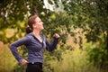 Runner Woman Jogging In Nature...