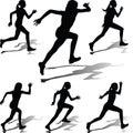 Runner woman vector