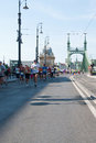 Runners in the Budapest half marathon Royalty Free Stock Images