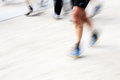 Runners legs with panning blur Royalty Free Stock Photography
