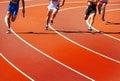 Running athletes Royalty Free Stock Photo
