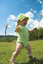 Running baby Royalty Free Stock Photo