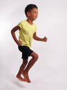 Running boy. Royalty Free Stock Photo