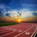 Running empty Track Royalty Free Stock Photo