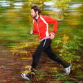 Running in the forest Royalty Free Stock Photography