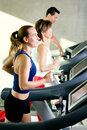 Running in the gym Royalty Free Stock Photo