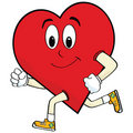 Running heart Royalty Free Stock Photo