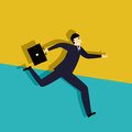 Running late business man conceptual corporate graphic Royalty Free Stock Image