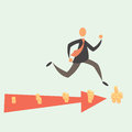 Running for money the businessman in a pursuit of eps Royalty Free Stock Photography
