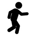 running person pictogram icon Royalty Free Stock Photo