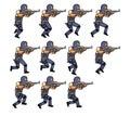 Running Police Animation