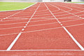 Running race track. Royalty Free Stock Photo