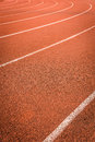 A running racetrack it is constructed from red rubber cover Stock Photography