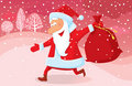 Running Santa Royalty Free Stock Image