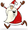Running santa Royalty Free Stock Images