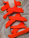 Running shoe laces on sports Royalty Free Stock Photos