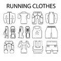 Running sport clothes, shoes, trainers for runners and home fitness