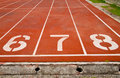 Running track numbers Stock Images