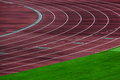 Running track pictured the corner of Royalty Free Stock Image