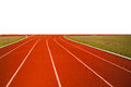 Running track for popular sport athlete or with white back ground Stock Photography