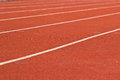 Running track rubber standard red color Stock Photography