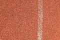 Running track texture with white line Royalty Free Stock Images