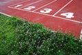 Running tracks Stock Photo