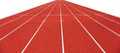 Running tracks isolated on white Royalty Free Stock Photo