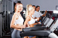 Running on treadmill Royalty Free Stock Photography
