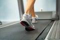Running on treadmill Royalty Free Stock Photo