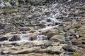 Running water of mountain stream Royalty Free Stock Photo