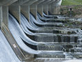 Running Water over the Dam Royalty Free Stock Photo