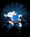 Running White Rabbit Royalty Free Stock Photo