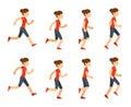 Running woman animation