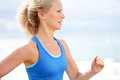 Running woman healthy lifestyle Royalty Free Stock Photo