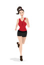 Running woman vector illustration of Royalty Free Stock Photo