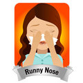 Runny Nose Royalty Free Stock Photo
