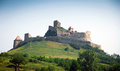 Rupea defense fortress placed on top of a hill in transylvania romania Stock Photo