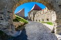 Rupea fortress medieval landmark of transylvania is in brasov county romania saxon Stock Photos