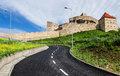 Rupea fortress transylvania romania is in brasov county built in xivth century by saxon rebels nowday is ruined Stock Photography