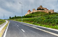 Rupea fortress transylvania romania is in brasov county built in xivth century by saxon rebels nowday is ruined Stock Photos