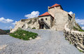 Rupea fortress in transylvania romania ruins of from medieval built by saxons xivth century nowaday landmark of Royalty Free Stock Image