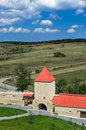 Rupea fortress in transylvania romania ruins of from medieval built by saxons xivth century nowaday landmark of Stock Photo