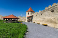 Rupea fortress in transylvania romania ruins of from medieval built by saxons xivth century nowaday landmark of Royalty Free Stock Images