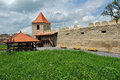 Rupea newly renovated medieval fortress in transylvania romania reps kohalom Royalty Free Stock Images
