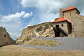 Rupea newly renovated medieval fortress in transylvania romania reps kohalom Stock Images
